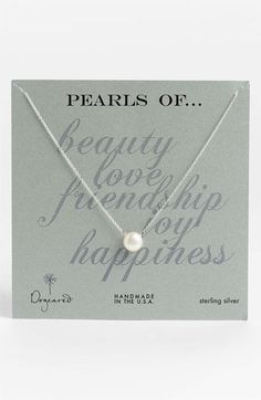 Dogeared Freshwater Pearl Necklace available at #Nordstrom-gave to Linda for her 30th Bday :)