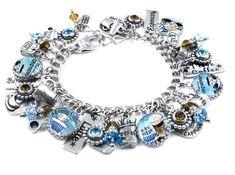 Silver Charm Bracelet Coffee Jewelry Coffee by BlackberryDesigns