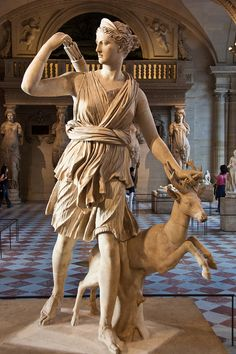 Diana, Etruscan goddess of the hunt.  Diana of Versailles by Fotomoe (Flickr).