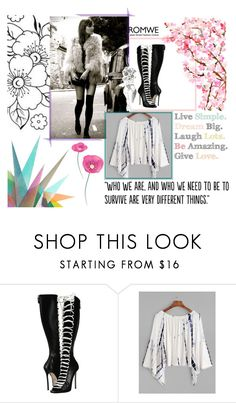 """Romwe"" by anamarija-ii ❤ liked on Polyvore featuring Dsquared2, Krystal, Populaire and romwe"