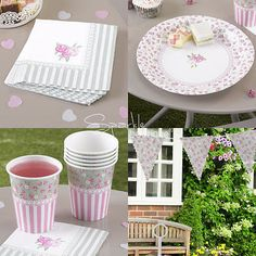 #Frills & spills tea #party #set-shabby chic kit: paper plates/napkins/cups/bunti,  View more on the LINK: http://www.zeppy.io/product/gb/2/171339304272/