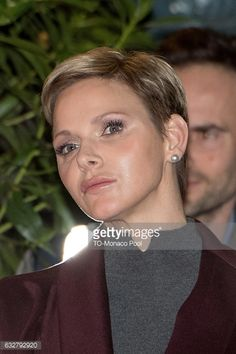 Princess Charlene of Monaco leaves the Cathedral of Monaco after a mass during the SainteDevote ceremony on January 26 2017 in Monaco Monaco Sainte...