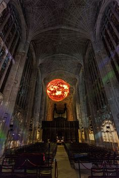 At a charity event held in the University of Cambridge, Paris-based digital projection artist Miguel Chevalier turned the university's 16th-century King's College Chapel into a stunning backdrop for his hypnotizing light show. As each speaker at the 'Dear World… Yours, Cambridge' event spoke about their topic, the chapel was filled with projections that artfully illustrated their points.