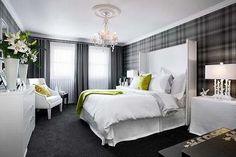 Tartan Bedroom    bijou kaleidoscope: Colin & Justin