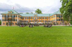 """GWANDHAUS GÖSSL ""  Hellbrunner Allee, SAlzburg  Enjoy the view with a cup of…"