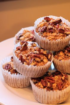 Another photo of my finished sugar free healthy breakfast muffins