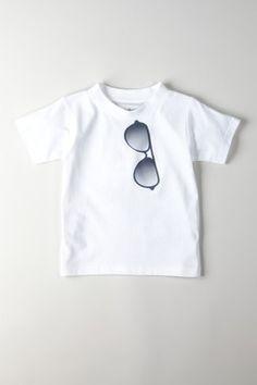 218710d5976 Ba Ba Bling Baby White Aviator Crew Neck T-Shirt Drengebabymode, Fashion  Kids,