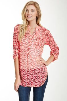 Pleione Printed Pocket Blouse by Pleione on @HauteLook