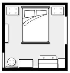 Plattegrond slaapkamer ontwerpen