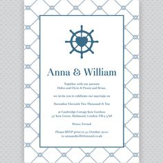 What a cute, nautical wedding invitation.