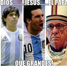 Argentina: Maradona, Messi, Pope Bergoglio