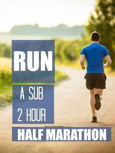 Goal is faster, nut good tips for increasing speed no matter the goal time!  How to run a sub two hour half marathon - tips and training advice from a running coach