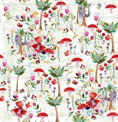 Nadja Petremand, Spoonflower - adorable red riding hood fabric