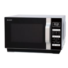 Sharp Flat-Tray Microwave - Silver This stylish 900 watt microwave from Sharp cooks food quickly and easily. It has a flat-tray turntable-free design to accommodate larger dishes Microwaves For Sale, Cookers, Ovens, No Cook Meals, Turntable, Free Design, Larger, Tray, Kitchen Appliances