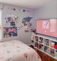Army Room Decor, Cute Bedroom Decor, Study Room Decor, Room Design Bedroom, Room Ideas Bedroom, Dispositions Chambre, Pastel Room, Pastel Colors, Neon Room