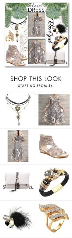 """""""ROSEGAL:Charming Floral Print See Through Dress"""" by stylematters61 ❤ liked on Polyvore"""