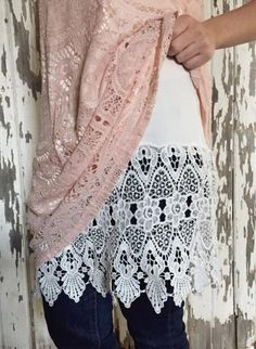 NEW STYLE! Lace Shirt Extender