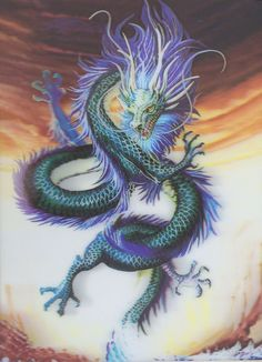 Chinese Dragon Square Diamond Painting Chinesischer Drache Square Diamond Painting This image has get Fantasy Creatures, Mythical Creatures, Fantasy Kunst, Fantasy Art, Water Dragon, Blue Dragon, Sea Dragon, Dragon Ball, Cool Dragons