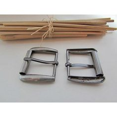 6988e9aaac2 Boucle de ceinture pour lanière de 2.3 cm - 3 x 3.5 cm- métal gris