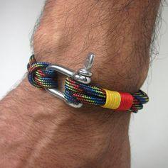 Paracord Bracelet Survival Bracelet / Nautical by ZEcollection