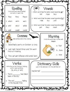 Smiling and Shining in Second Grade: October Daily Practice and a Freebie--click on preview for your second grade math freebie
