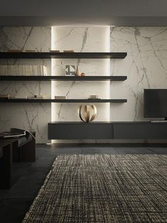 Pin on Sala vila Bene Pin on Sala vila Bene Contemporary Living Room Furniture, Living Room Modern, Living Room Interior, Home Living Room, Contemporary Shelves, Contemporary Kitchens, Contemporary Bedroom, Living Room Tv Unit Designs, Living Tv