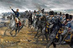 We think this captures the hauteur & the veteran experience of a last roll of the dice perfectly.  Ney & the Grenadiers a Cheval de la Garde a Imperiale at Waterloo.