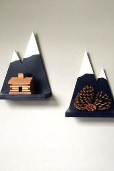 DIY - Display your stuff on the highest peak. - Diy basteln - Shelves in Bedroom Wood Projects, Woodworking Projects, Projects To Try, Kids Woodworking, Wood Crafts, Diy And Crafts, Ideias Diy, Kids Room Design, Boy Room