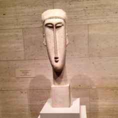 One of our greatest memories from our last trip to the National Gallery of Art (Washington, DC): Modigliani's Head of a Woman (1910/1911), limestone, overall: 25 11/16 x 7 1/2 x 9 3/4 in.