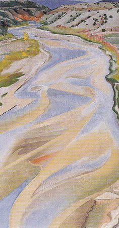 Georgia O'Keeffe. Chama River Ghost Ranch NM c1934