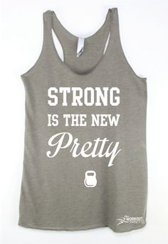 Strong is the new pretty Gym Clothes Workout Clothes eco Fitness Motivation 015e744989c