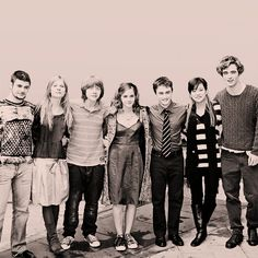 Goblet of Fire cast. I love how Robert Pattinson is a head taller than all of them!