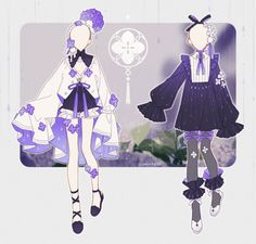 Manga Clothes, Drawing Anime Clothes, Anime Girl Dress, Anime Art Girl, Anime Outfits, Mode Outfits, Fashion Design Drawings, Fashion Sketches, Character Outfits