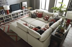 Beckham Pit Sectional by Bassett Furniture. Customize your sectional with over 1,000 fabrics!
