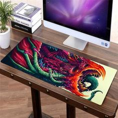 Computer & Office Computer Peripherals Devoted High Quality Natural Rubber Locking Edge Gaming Mouse Pad Gamer Game Mouse Pad Gray For Home Internet Bar