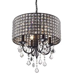 Wellyer Chione 4 Light Crystal Chandelier & Reviews | Wayfair