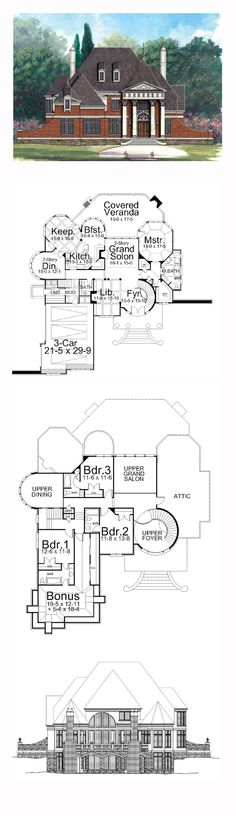Greek Revival House Plan 72009 | Total Living Area: 3258 sq. ft., 4 bedrooms and 4 bathrooms. #greekhome