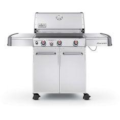 Weber Genesis S-330 Propane Gas Grill On Cart With Sear Burner & Side Burner
