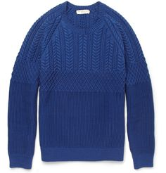 Stay warm and stylish with the selection of sweaters, cardigans and other men's knitwear from over 100 luxury fashion designers from MR PORTER. Mens Fashion Sweaters, Knitwear Fashion, Knit Fashion, Men's Knitwear, Men's Fashion, Fashion Styles, Cotton Sweater, Men Sweater, Cashmere Cardigan