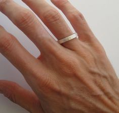 Einfache Trauringe set  Handarbeit gehämmert Sterling Silber