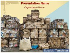Paper Recycling Stock design template. This #PowerPoint #theme can be associated with #Ecology #Environment #Recycle #Recycling #Waste etc.