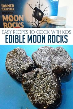 Simple recipe inspired by Tanner Turbeyfill and the Moon Rocks to cook some delicious and easy Moon Rocks with Kids.  #kidsinthekitchen #cookingwithkids #rainydaymum