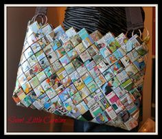 Sac à main en pages de magazine
