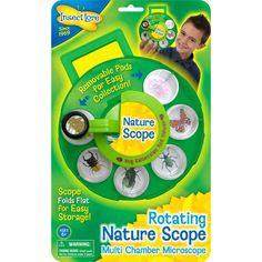 Bug Viewer and Collector by Insect Lore- Nature Scope, Portable Microscope Includes 6 Collecting Pods and Rotating Magnifier ** See this great product. Activity Games, Activities, Bug Toys, Classroom Supplies, Camping Games, Teaching Materials, Kindergarten Classroom, Pretend Play, Science And Nature