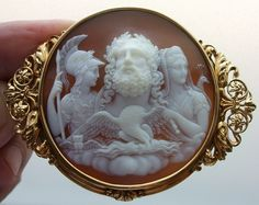 Zeus, Hera and Athena Antique Cameos: old victorian, shell, coral and hardstone cameos, vintage jewellery