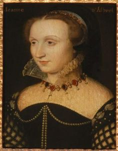 Jeanne d'Albret, Queen of Navarre (1528- 1572) in the Musée Condé.2nd half of 16th cent.
