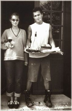 Kate Moss & Johnny Depp #1990s #love #adelinecouple