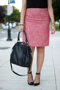 Oh My Heart Kate wears a Joe Fresh tweed skirt!