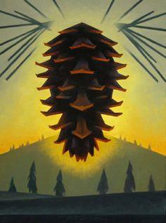 "Ed Mell, ""Pine Cone""  http://arizonahighways.wordpress.com/tag/ed-mell/"