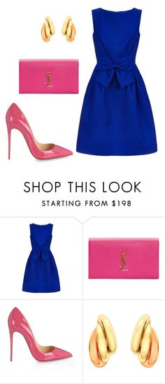 """""""style theory by Helia"""" by heliaamado on Polyvore featuring moda, Ted Baker, Yves Saint Laurent, Christian Louboutin e IBB"""